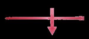 Указатель направления потока (Хомут со стрелкой для горячей воды)